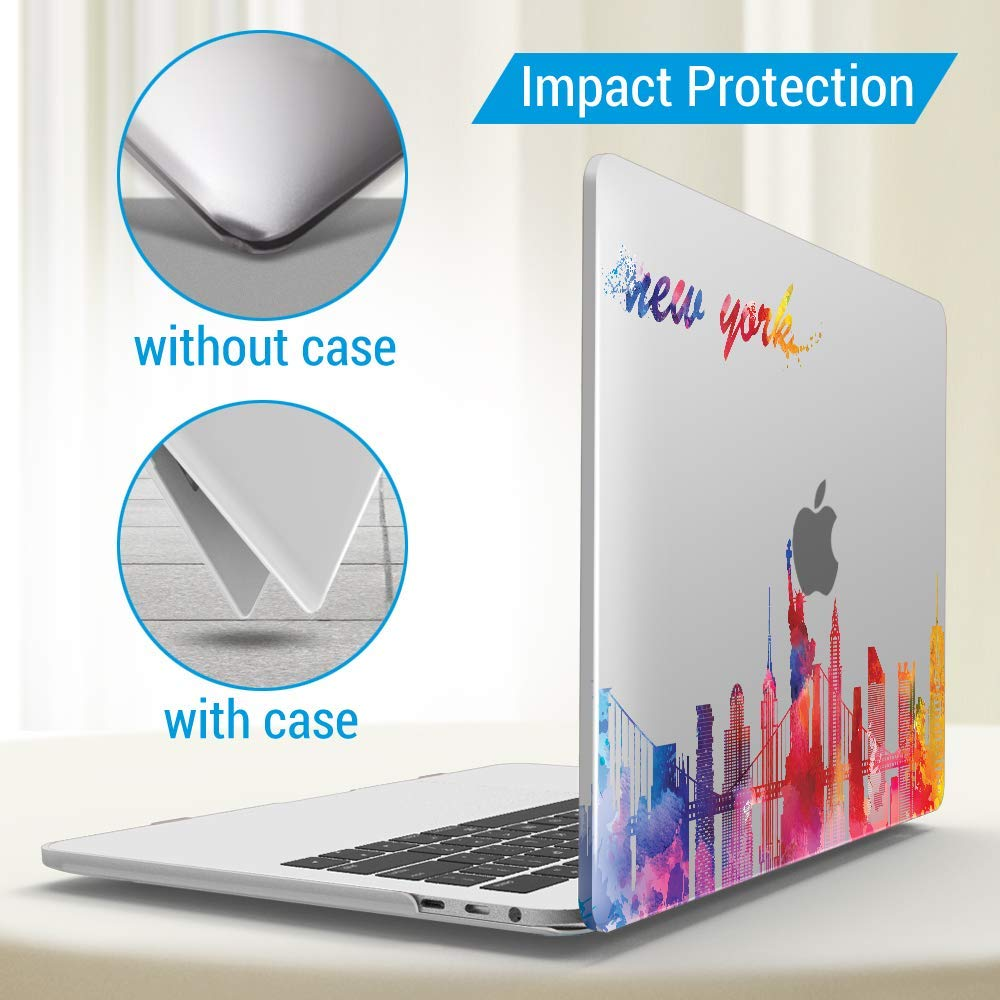 Navy Blue T13NVBL+1A IBENZER MacBook Pro 13 Inch Case 2020 2019 2018 2017 2016 A2159 A1989 A1706 A1708 Hard Shell Case with Keyboard Cover for Apple Mac Pro 13 Touch Bar