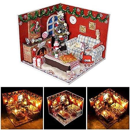 Mini Dollhouse Kits Mini Diy Baby Puppe Haus Mit Led Leichte Mobel