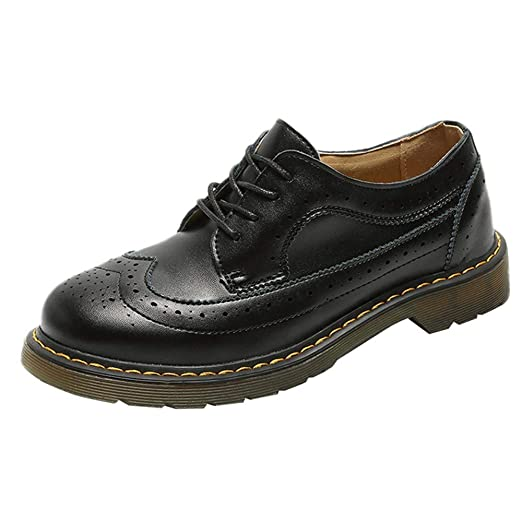 Bestow Zapatos de Mujer Otoño e Invierno Zapatos de Mujer Retro Solos de Colegio con Zapatos de Mujer Viento británico Botas de Mujer: Amazon.es: Ropa y ...