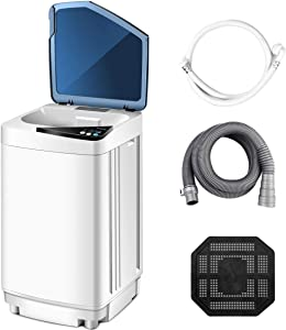 Portable Washing Machine,Safeplus Fully-Automatic Washer and Spin Dryer Combo 10 lbs Load Capacity Compact Laundry Washer with Built in UV Light for Apartments RVs and Small Space Living