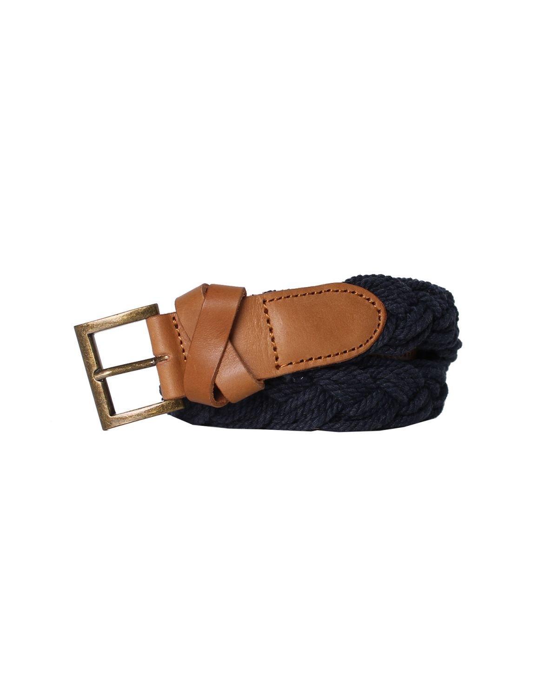 55DSL - Leather and Cotton Belt CREMK - blue, 100