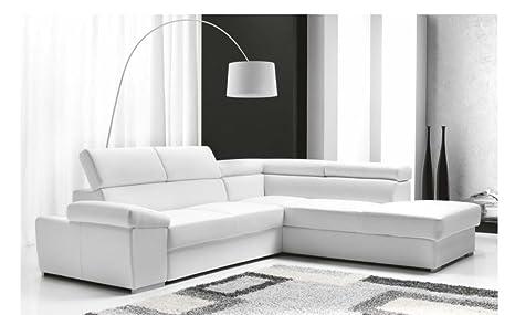 Divano Letto Bianco Ecopelle : Casarreda divano letto angolare mod. denver con chaise longue dx