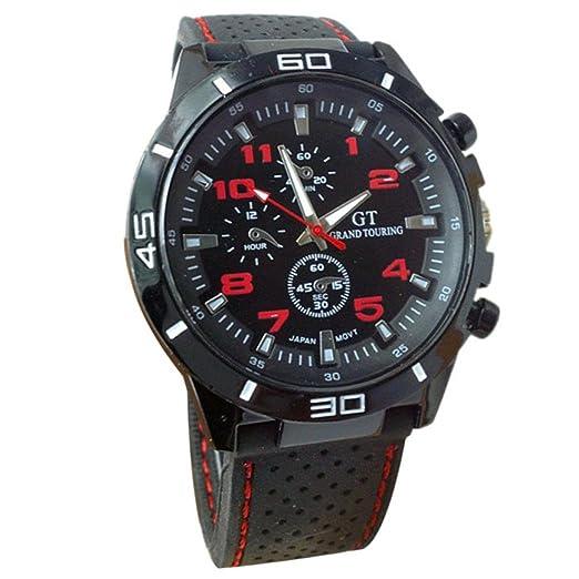 Sannysis® Moda Silicona Militar Sport Cuarzo Para Hombre: Amazon.es: Relojes