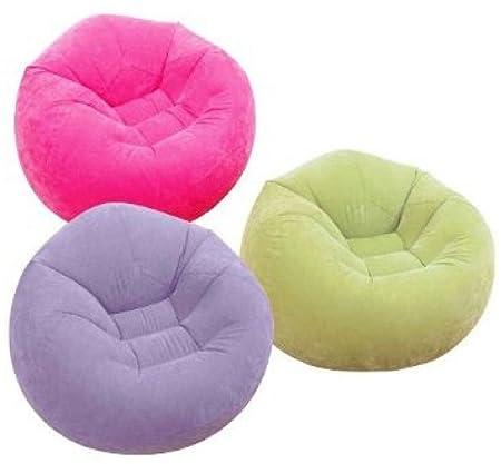 INTEX portátil beanless puf sillón Hinchable Air Flocked ...
