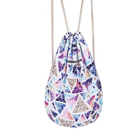 c43daca8db DoGeek Sacca Sportiva Sacche Bag Drawstring Backpack Sacchetto Bambini Gym Tela  Sacche Bag Borsa Bella Del