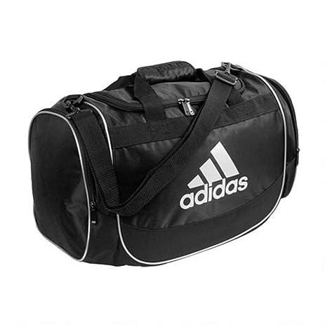 Amazon.com  Adidas Defender Small Duffel Bag (Black, Silver) (Small ... 5089a56aa1