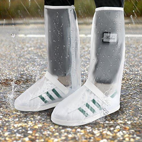 NE/_ Waterproof High Shoes Covers Anti-slip Riding Hiking Outdoor Rain Snow Boo
