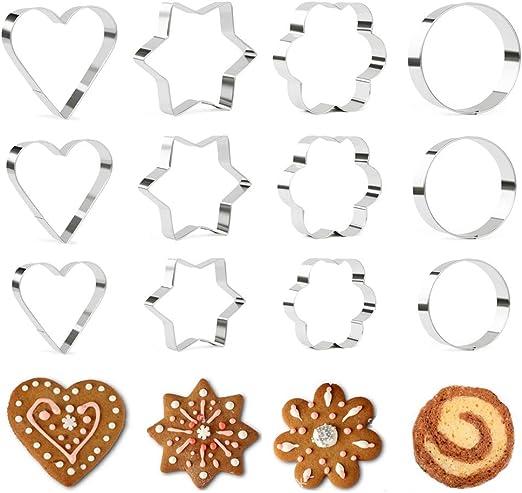 Lot de 6 cœur forme étoile Cookie Cutter métal moule pâtisserie décoration