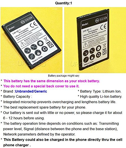 Long Lasting 2550mAh 3.85V Extra Standard Replacement Li-ion Battery for LG Aristo 2 LMX210MA MetroPCS Android phone