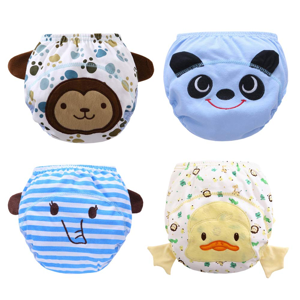 YANN Baby Training Pants Washable Diaper Nappy Underwear for Toddler Boys and Girls (4 Pack)