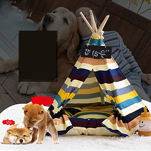 Tienda de campaña para mascotas, perro (cachorro) y cama para gato, tienda de campaña portátil para mascotas y casa para perro (cachorro) y gato de estilo ...