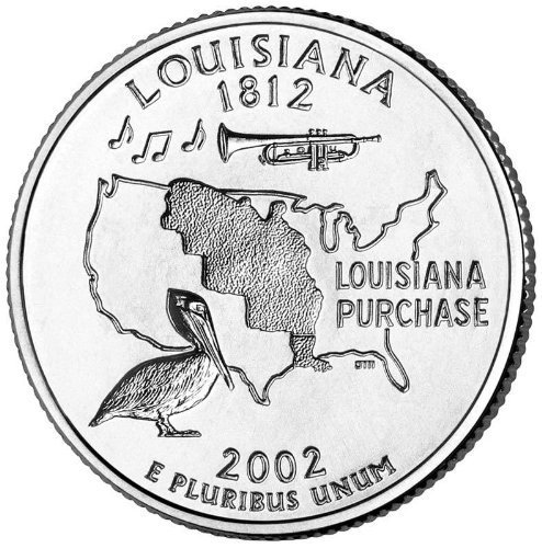 2002-D Louisiana BU State Quarter by United States Mint