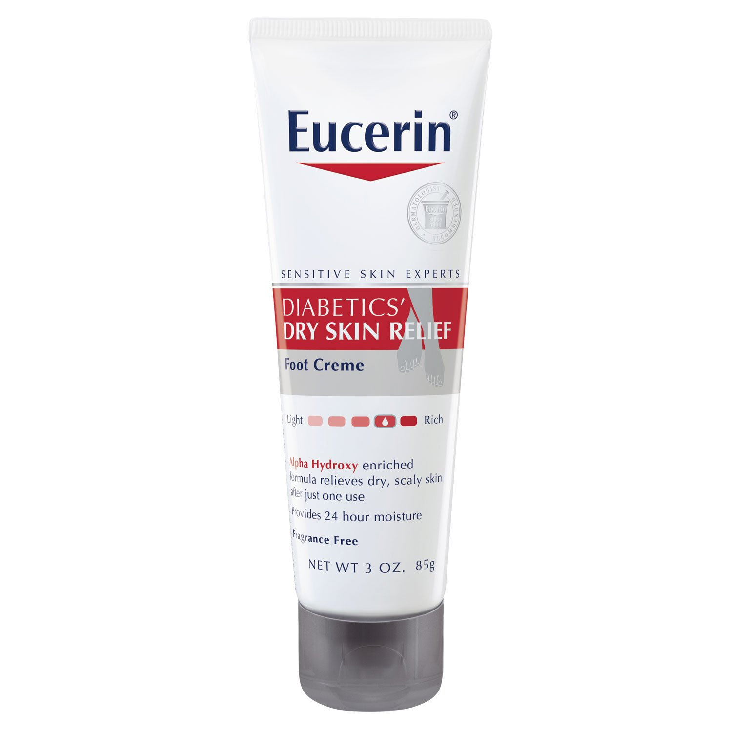 Eucerin Diabetics' Dry Skin Relief Foot Creme, 3 Ounce (Pack of 3) by Eucerin