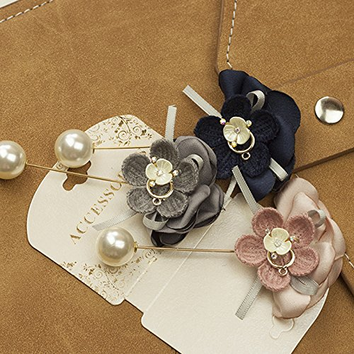 Dongguk door wild flower corsage brooch pearl sweater coat qiu dong fashion accessories (Brooch Wildflower)