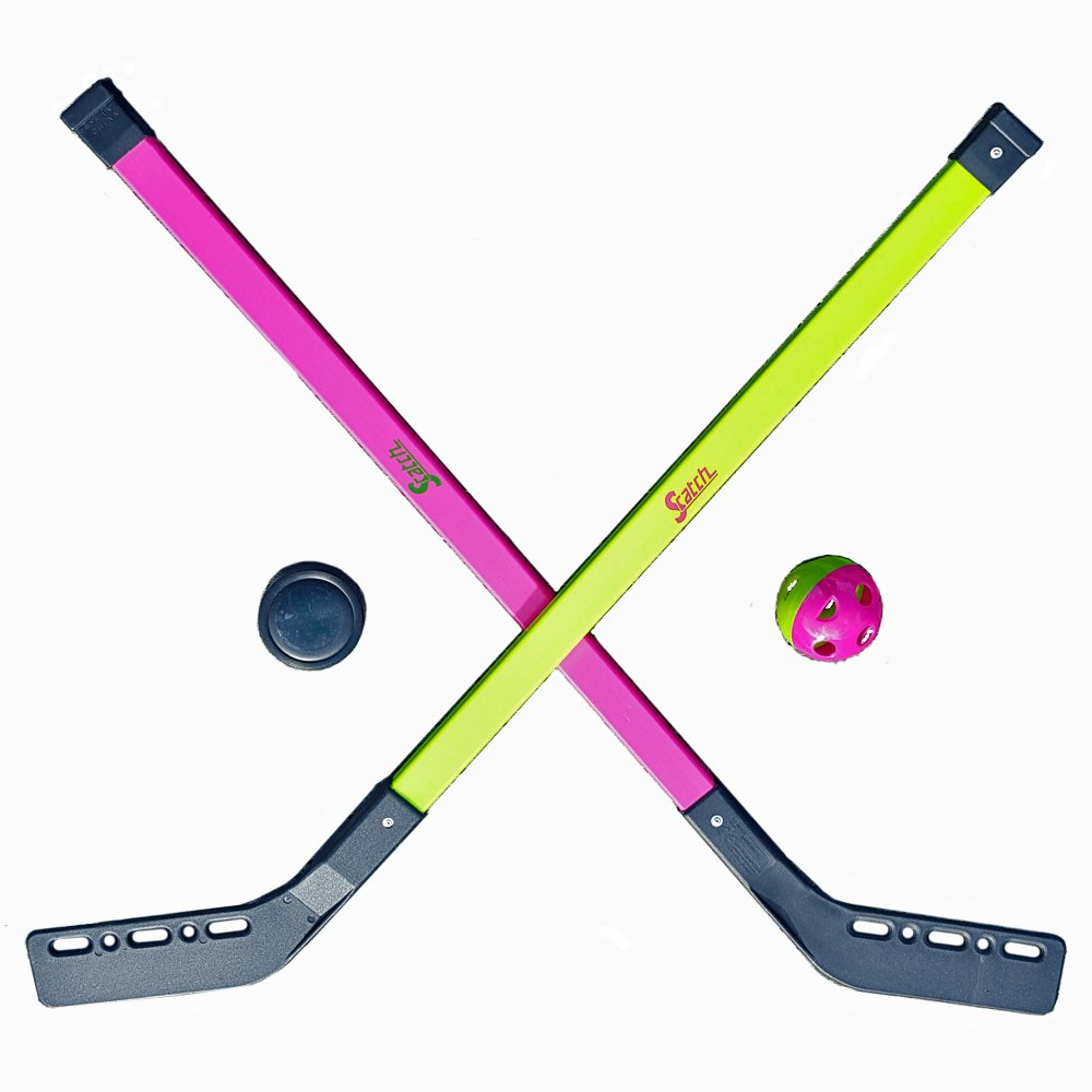 Kinder Streethockey SET Feld Eis Halle Straßen Hockey Spiel 2 Schläger 1 Ball 1 Puck Unbekannt 21639