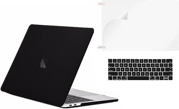 "Release 2018 Black Rubberized Matte Hard Case for Macbook Pro 13/"" A1989"