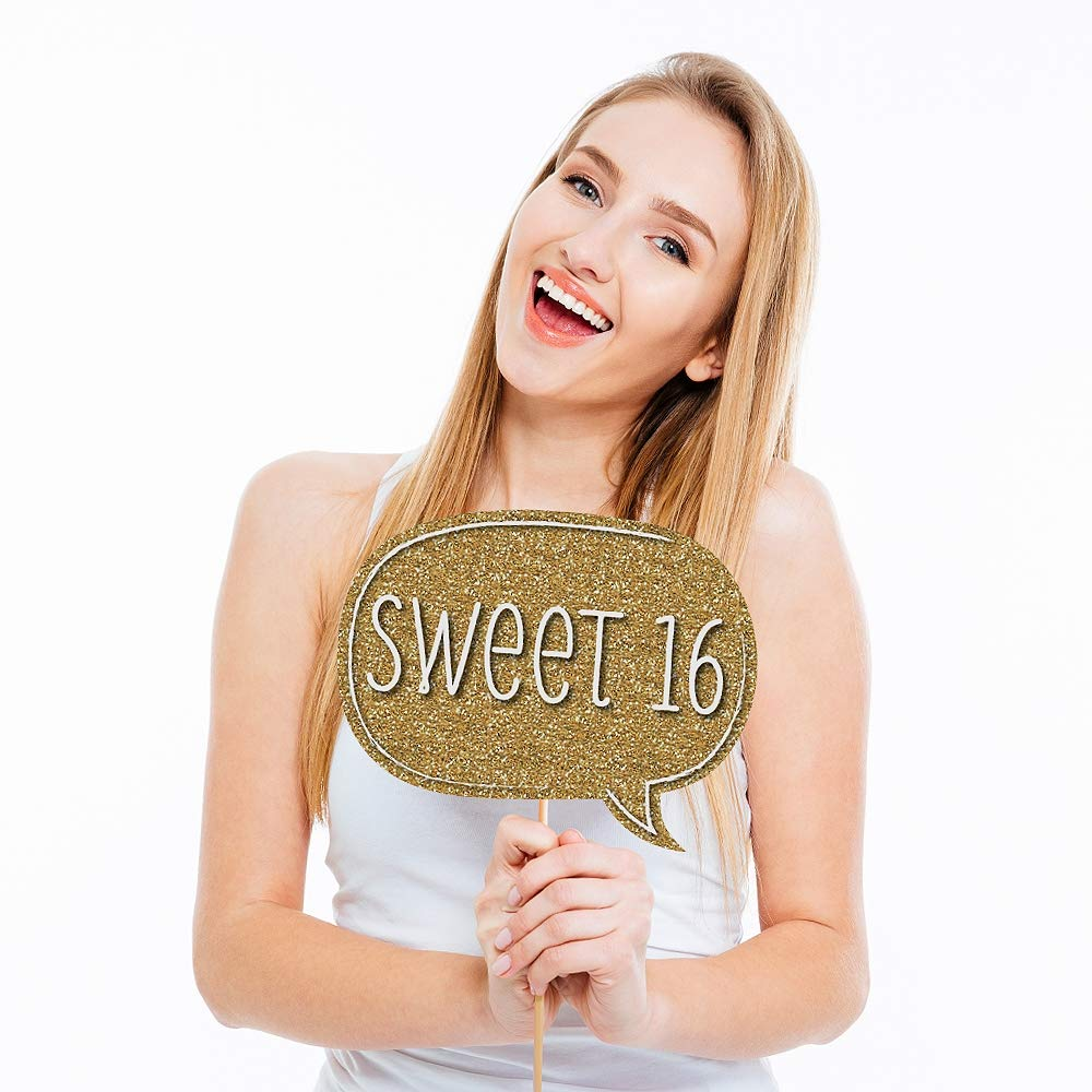 Amazon Com Big Dot Of Happiness Sweet 16 Birthday Photo Booth