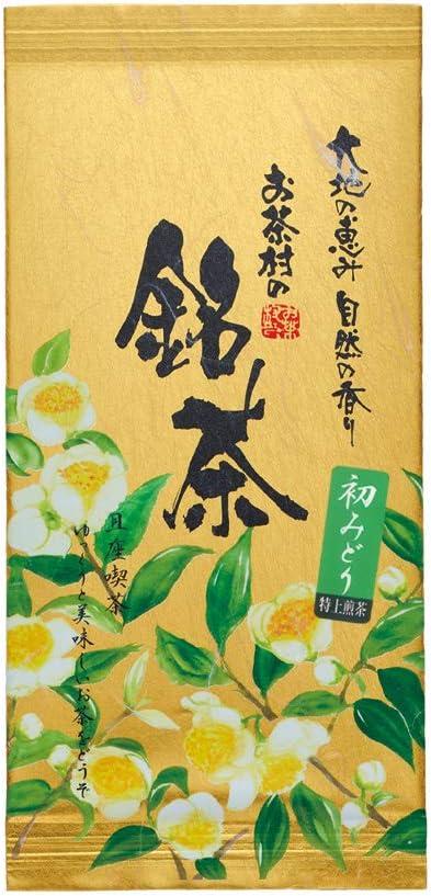 お茶村 特上煎茶 初みどり(100g)九州産(八女産)茶葉のみ使用