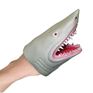 Hand Puppet Toy - Flexible Great White Shark Hand Puppet