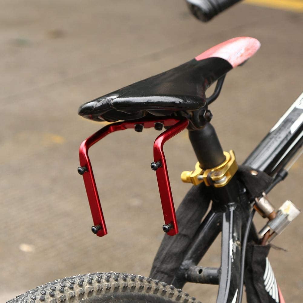 Bicycle Seat Rack Bike Saddle Back Double Water Bottle Holder Cage Adapter 20