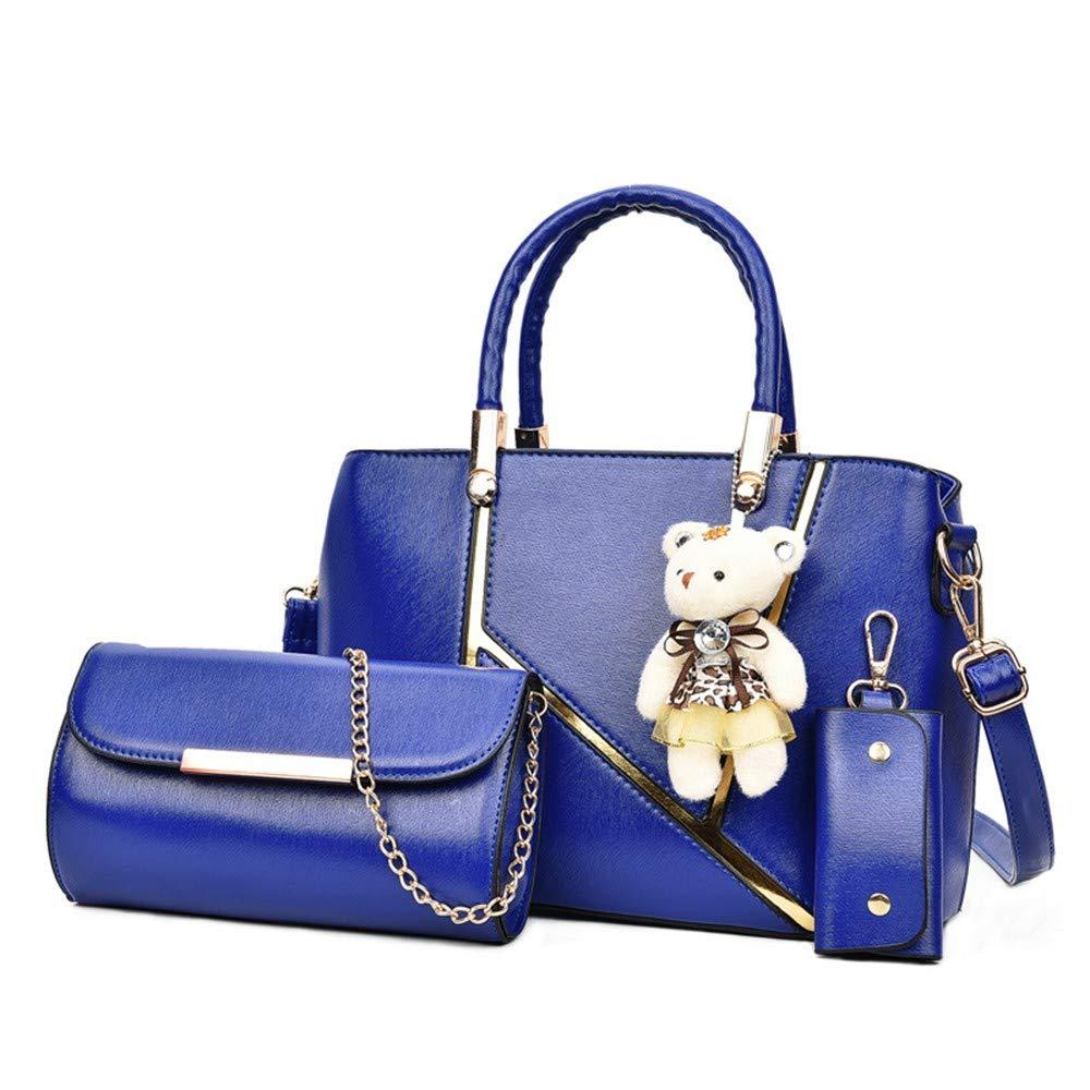 Wangkk Damen Tasche Umhängetasche Umhängetasche Umhängetasche Spleiß Tasche Lässig Wildes Temperament Tasche, Blau B07NXPT9KK Umhngetaschen Aktuelle Form d88131
