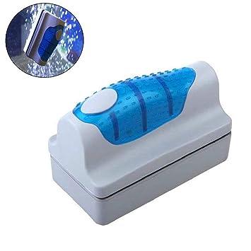 Yakamoz magnético cepillo acuario pecera de cristal algas rascador limpiador Herramienta