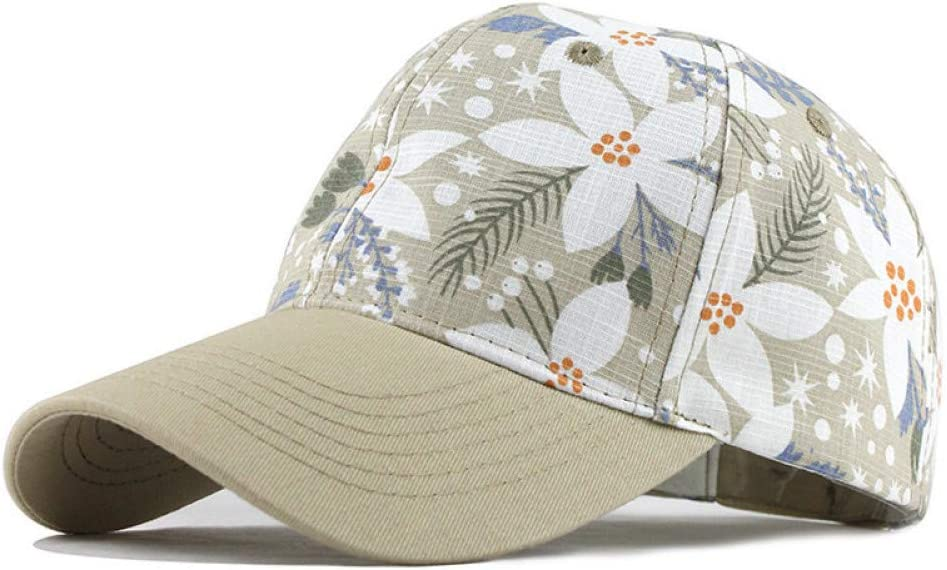 JINRMP Men Women Baseball Cap Snapback Printing Flowers Couple Hats Quality Cotton Summer Caps Bone Knitted Hats