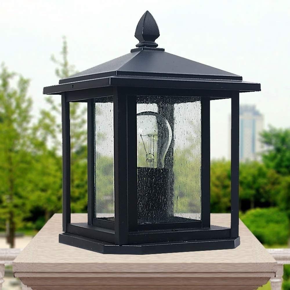 Sufleyy Americana impermeable al aire libre pilar de cristal de ...