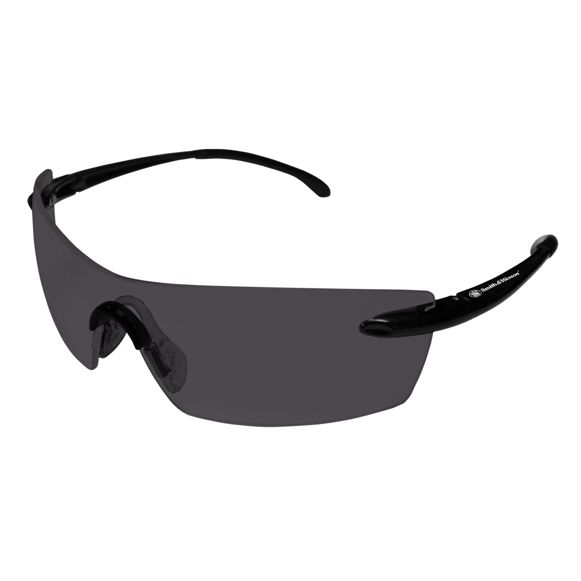 Smith & Wesson Caliber Safety Glasses (23007), Black Frame, Smoke Anti-Fog Lens, 12 Pairs/Case by Jackson Safety