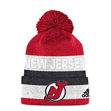 46787209 adidas New Jersey Devils Juliet Cuffed Beanie NHL Knit Hat, One Size ...
