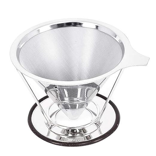 Filtro de malla de café reutilizable colador de acero ...