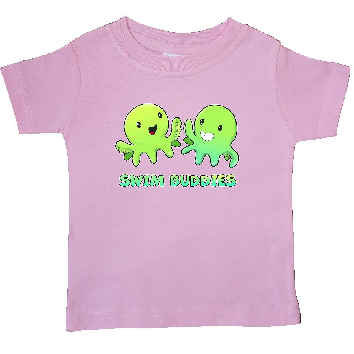inktastic Swim Buddies with Cute Octopi Baby T-Shirt