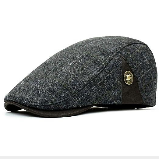9cd1a03ce6 Clape Men's Plaid Tartan Newsboy Beret Cap Irish Hunting Hat Cap ...
