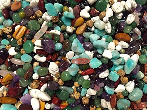 Semi Precious Stone Bead Assortment 1 lb