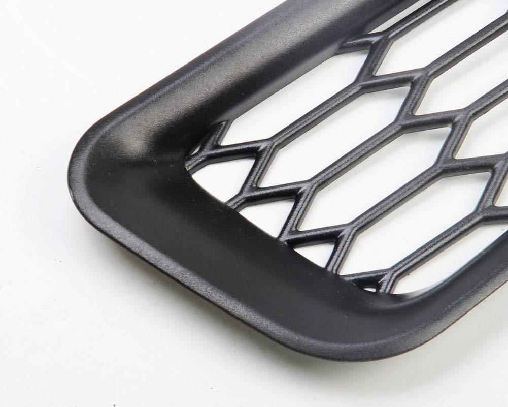 Front Fog Vent Black Justautotrim Honeycomb Front Bumper Bottom Fog Vent /& Side Fender /& Headlgiht Chrome Cover Trim for 2016 2017 2018 Ford F150 Raptor Accessories