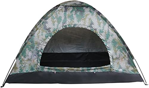 Boshen 3-4 Persons Outdoor Pop Up Shelter Tent for Camping Hiking Mountain Outdoor Activities Camouflage Color