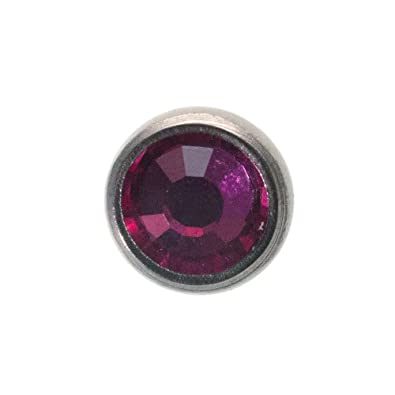 Blue Banana Body Piercing Joya Microdermal o Surface Top, Acero Quirúrgico 5mm (Fucsia)