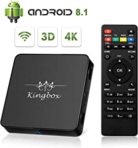 Kingbox Android TV Box 8.1, Model X Android Box with 2GB RAM 16GB ROM