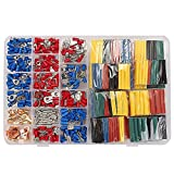 KINWAT 678pcs Heat Shrink Tubing Tube with Spade Terminals Car Electrical Wire Set 22-10AWG