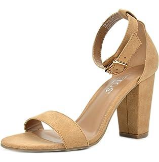 3e2bfb6b06c TOETOS Women s Stella Open Toe Mid Chunky Heel Pump Sandals