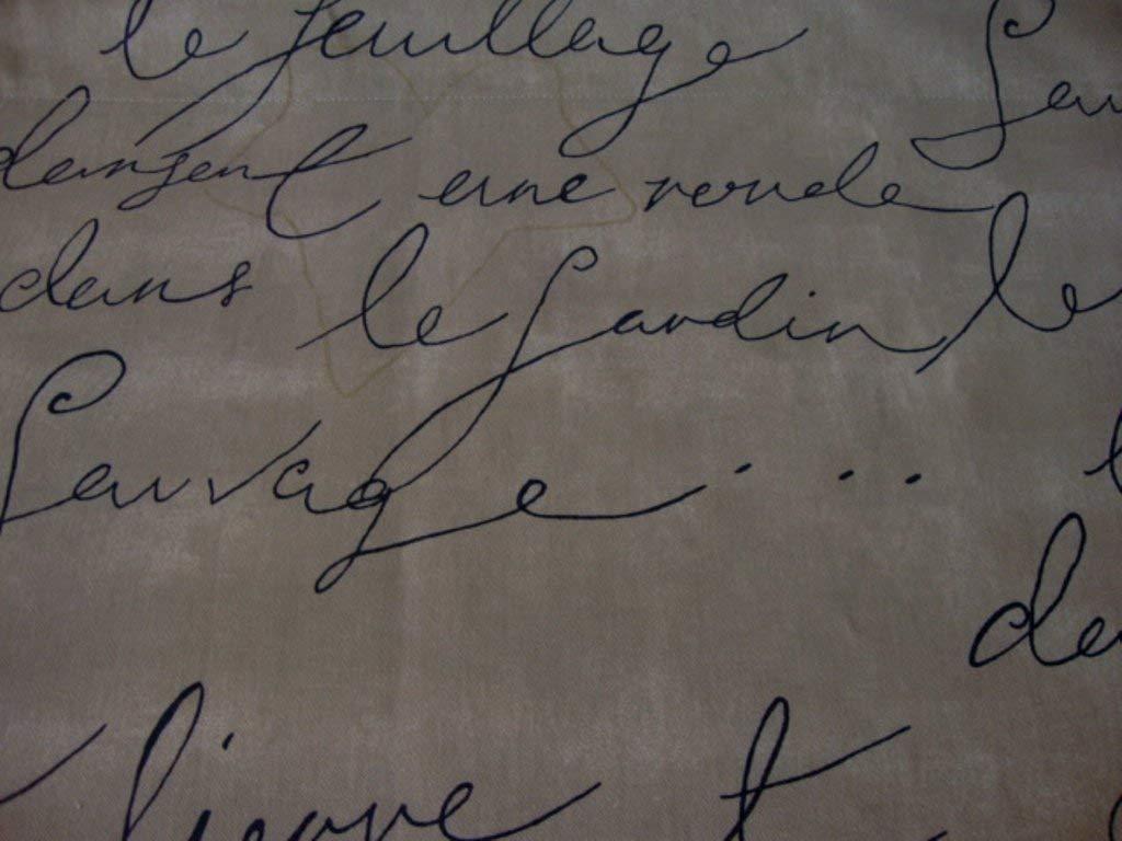 Valance Waverly Pen Pal French Script Window Treatment