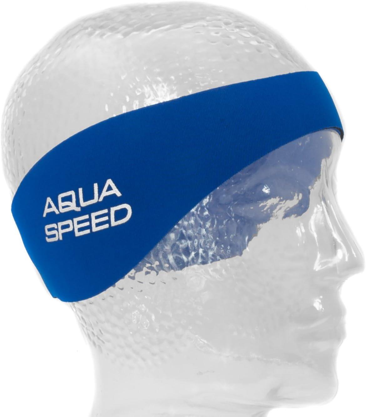 Schwimmstirnband Herren Wasserhaarband Aqua Speed EARBAND Stirnband Zum Schwimmen aus Neopren Damen Blau Rosa Kinder