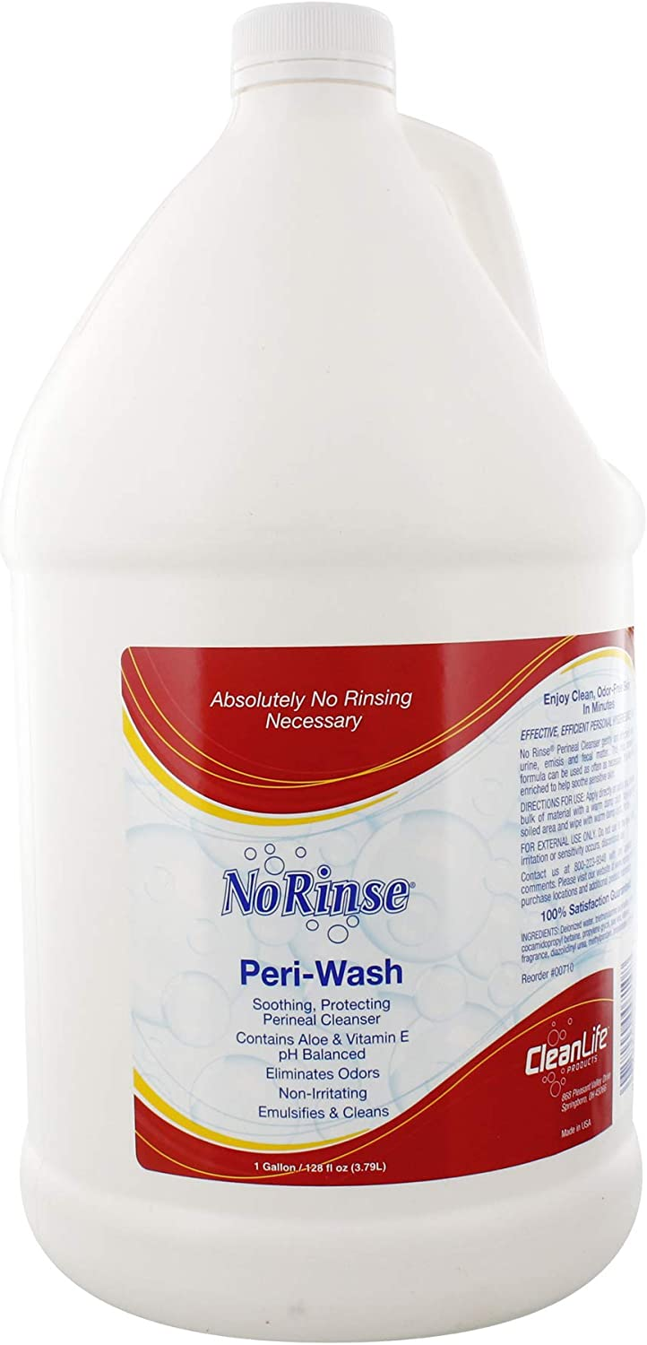 No-Rinse Peri-Wash - Soothing, Protecting Perineal Cleanser, 1 Gallon