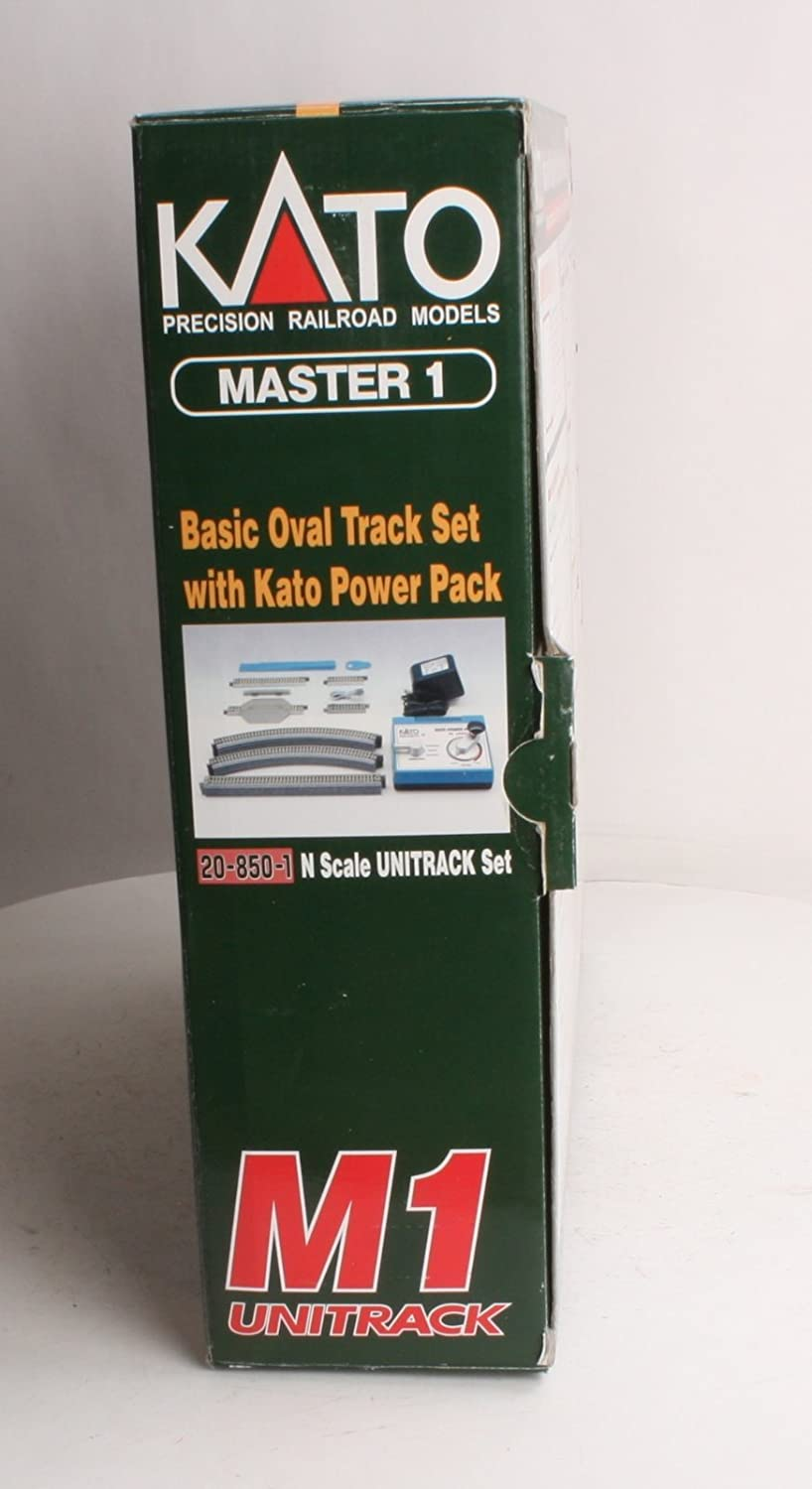 Kato USA Model Train Products M1 UNITRACK Basic Oval with Kato Power Pack Kato Trains 20-850-1