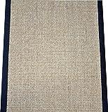 Dean Desert/Black Natural Sisal Hall/Entrance/Landing Slip Resistant Carpet Runner Rug 29″x8′