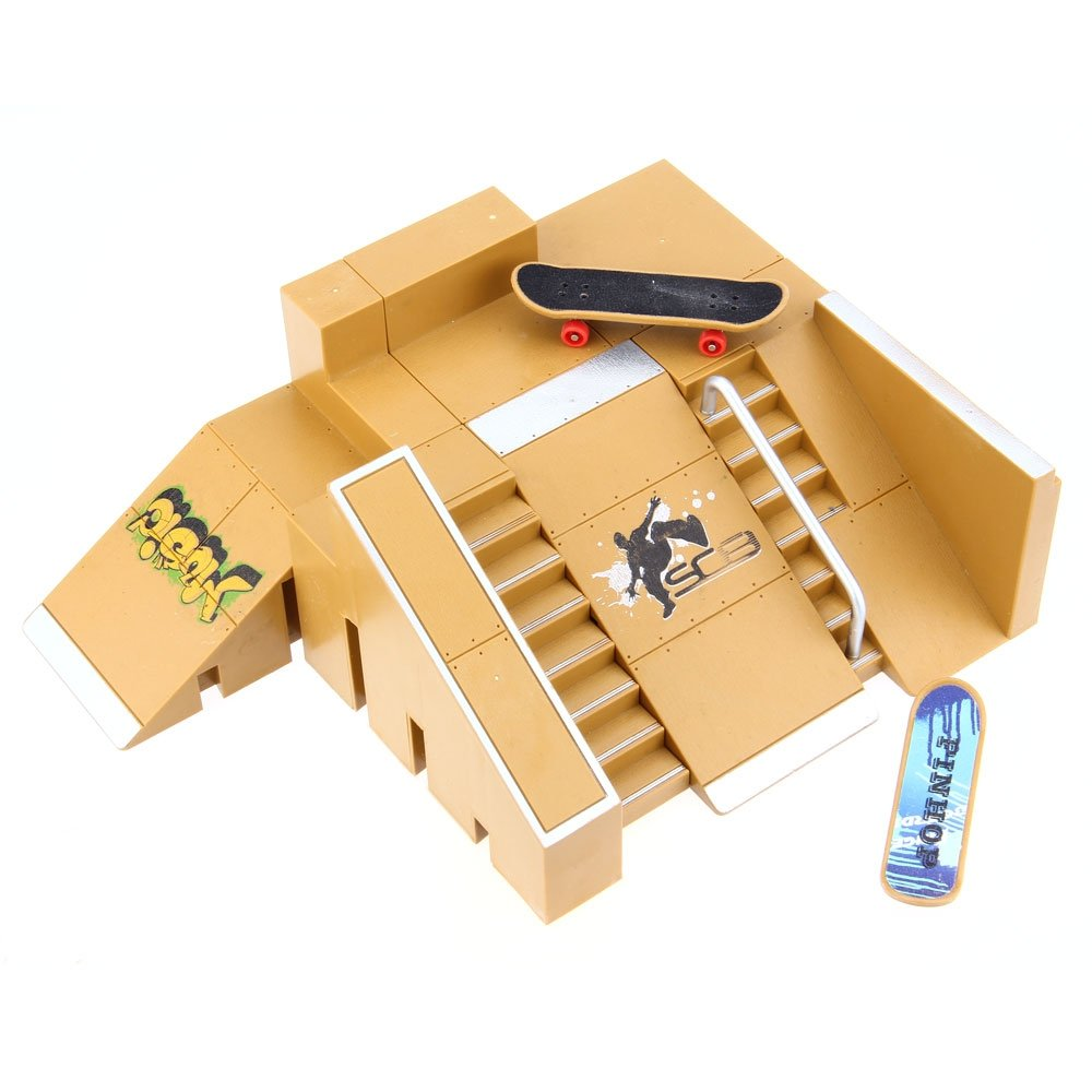 Robolife Skate Park Kit Ramp Parts for Fingerboard Ultimate Sport Training Props-5pcs by Robolife (Image #2)