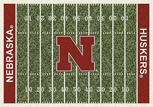 Milliken 4000018570 Nebraska College Home Field Area Rug, 5'4