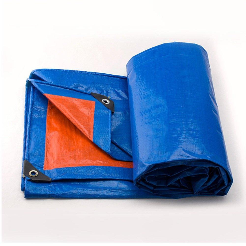AJZGF Regenschutz Wasserdicht Gepolsterte Gepolsterte Gepolsterte Wasserdichte Plane regendichte Sonnenschutz Plane LKW-Plane im Freien Schatten staubdicht Winddicht Blau  Orange (Farbe   BlauOrange, größe   2x2M) B07G4BGQRF Abspannseile Neuankömmling 44f709