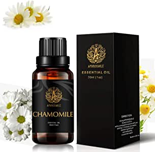 Aromatherapy Chamomile Essential Oil, 1oz - 30ml Aromatherapy Essential Oil Chamomile Scent for Diffuser, Humidifier, Therapeutic Grade Chamomile Fragrance Essential Oil for Massage, Home