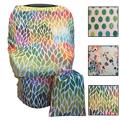 Multi-Use Nursing, Baby Car Seat, Stroller, Shopping Cart & High Chair Cover - Dots… (Poodle Cover)